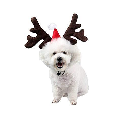 Rentier Tanz Kostüm - Kbsin212 Haarband für Haustiere, Rentier-Schmuck, Hunde-Kopfschmuck, Blume, Weihnachten, für Weihnachten, Tanz