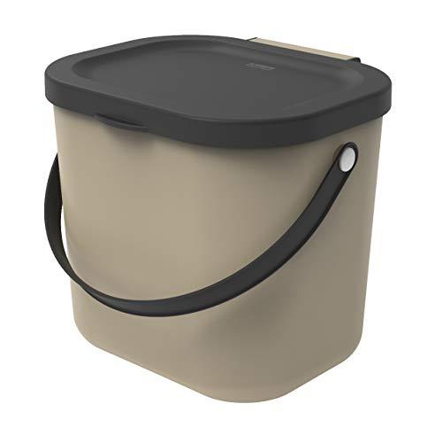 Rotho Albula - Cubo de Basura orgánica 6 L, para Cocina, plástico Polipropileno, Color...
