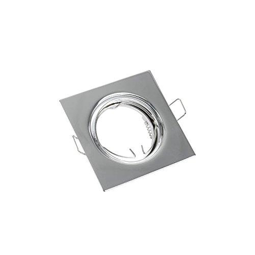 Spot à encastrer LED GU10 230V Spot encastrable carré plafonnier