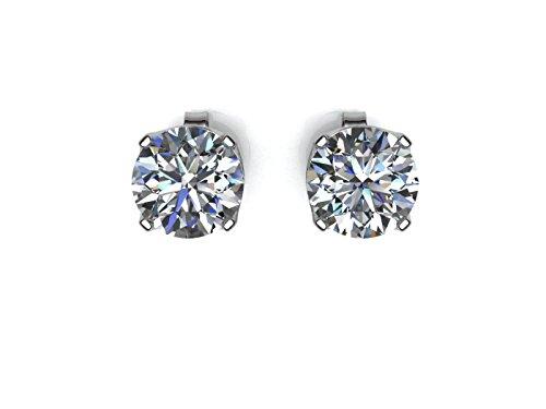 Precious Jewels UK - DIAMOND Stud Earrings 0.33ct D SI 9ct White Gold. Cert GIE. FREE Ship