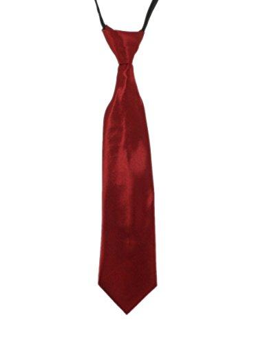 Boutique-Magique Cravate bébé, enfant ou ado 3 tailles,Bordeaux,L