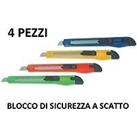 2 pz Taglierino in plastica professionale - lama da 9 mm- cutter in metallo