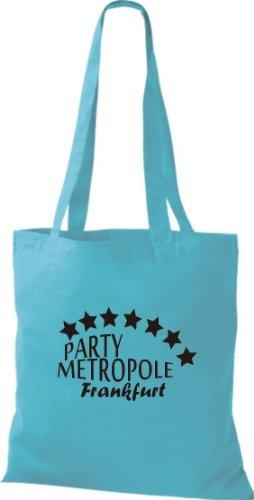 Sachets Fête Metropole Frankfurt City Style Sac en coton, Sac, Sac à bandoulière Plusieurs couleurs Bleu - sky