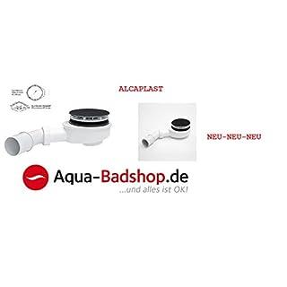 Drain Fitting for Shower Tray Shower Trap–Dimensions: Diameter 90mm Fast Flow Drain Flat 60mm ALCA Plastic Colour: White/Chrome