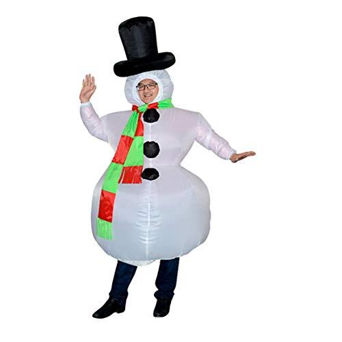 Kostüm Eltern Lustige Kind - bienddyicho Christmas Bar Mall Show Requisiten Lustige Aufblasbare Schneemann Dress Up Kostüm Eltern-Kind Requisiten Anzug Schneemann Kleidung -Schwarz