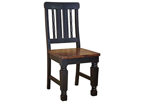 MASSIVMOEBEL24.DE Kolonialstil Sheesham massiv Holz Möbel Stuhl Palisander vollmassiv lackiert Massivmöbel New Boston #120
