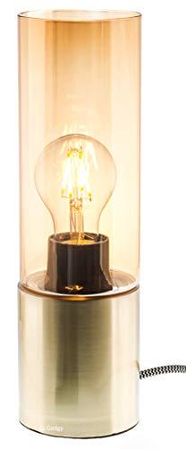 Gadgy  Lampe de Table Dimmable Tactile | Couleur Laiton | Rétro Vintage Moderne et Industrielle Design | avec LED E27 Ampoule
