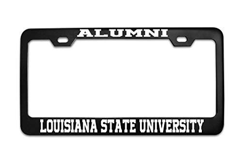Alumni Louisiana State University Black Metal Steel License Plate Frame Tag Black