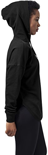Urban Classics Damen Hoodie Ladies Oversized Terry Hoody, weit geschnittener Kapuzenpullover für Frauen mit abgerundetem Saum Schwarz (Black 7)