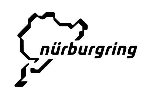 Auto Racing Aufkleber (Nürburgring Track Karte Racing Auto Symbol Funny Bumper Sticker van Bike Aufkleber Aufkleber Free P & P)