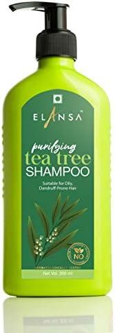 Elansa Purifying Tea Tree Shampoo - No Parabens, Color, Sulphates and Silicones, 300 ml