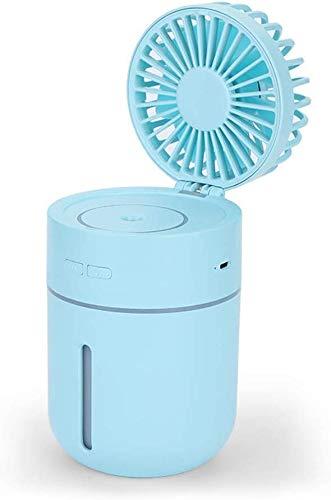 Umidificatore Portatile Usb Nebulizzatore Acqua Nebulizzata Ventilatore Idratante Ventilatore Nebulizzatore Portatile per Nebulizzazione Dell'Umidificatore, QiXian, Blu
