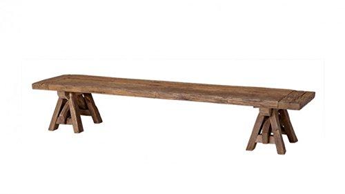 CASA PADRINO ART DECO LUXURY COFFEE TABLE 200 X 45 X H  35 CM - LIVING ROOM COFFEE TABLE - LUXURY RECLAIMED OAK TABLE