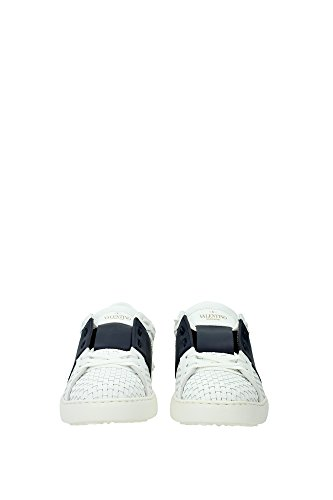 KY0S0830WOVM15 Valentino Garavani Sneakers Homme Cuir Blanc Blanc