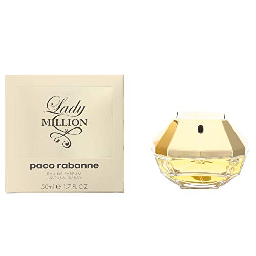 Paco Rabanne Lady Million femme/ woman, Eau de Parfum, Vaporisateur/ Spray, 1er Pack (1 x 50 ml) - Design Feines Parfum Spray