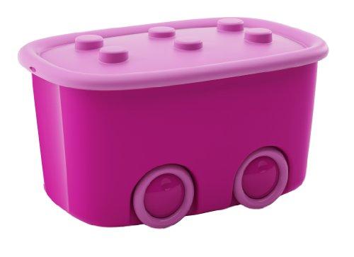 Kis 8630000 0287 04 Aufbewahrungsbox Funny Box, 46 L, Plastik, violett/rosa, 58 x 38,5 x 32 cm