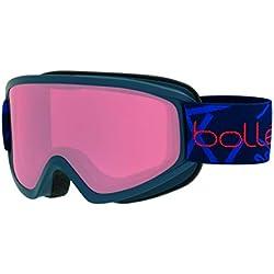 Bollé - FREEZE - Masque de Ski - Mixte Adulte - Navy Mat/ vermillon - M