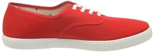 Victoria Inglesa Lona, Sneaker Unisex-Adulto Rosso (Rouge (Red)