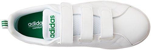 adidas Vs Advantage Clean Cmf, Chaussures de Sport Homme Blanc Cassé - Varios colores (Blanco (Ftwbla / Ftwbla / Verde))