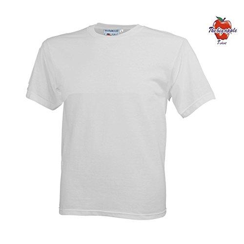 Set 5 Pezzi T-Shirt Maglietta The Big Apple 100 % Cotone - XL, Bianco