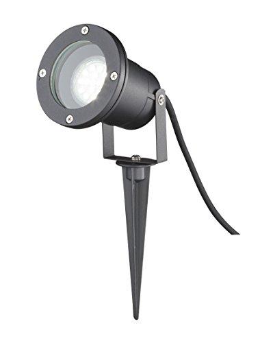 Wofi Spies lumineuse d'extérieur, Aluminium, GU10, 35 W, noir, 9.7 x 9.7 x 32,5 cm