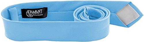 ADAMANT Hellblaue Designer Krawatte 5cm schmal - TOPQUALITÄT - Moderne Hellblaue/Blaue Krawatte/Schlips für Business und Alltag - Blau/Hellblau uni