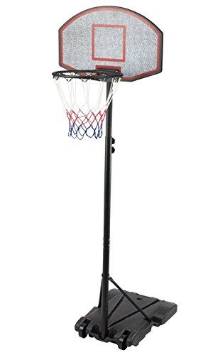 Iunnds, canestro da basket portatile con ruote, altezza regolabile 165 - 210 cm, Bambino, Black