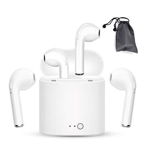 2.Kabelloser Bluetooth-Kopfhörer, hohe Klangqualität und stabiles Bluetooth-Signal, ergonomisches Design, kompatibel mit Fast alle Bluetooth-Telefonen.(weiß)