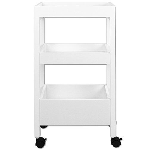 Nischenschrank - Küchentrolley - Nischenwagen - Nischenregal - Küchenregal - Küchenwagen - mit Rollen weiß
