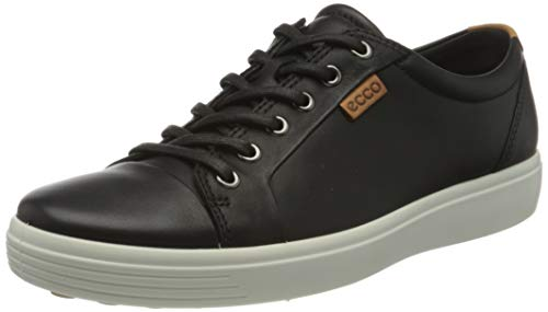 Ecco Herren SOFT7M Low-Top, Schwarz (1001BLACK), 45 EU
