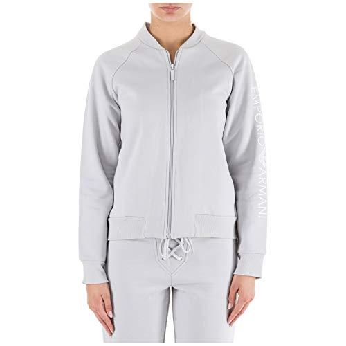 Emporio Armani Damen Sweatshirt Reißverschluss Pulli Grau EU S (UK S) 1638308A25009117