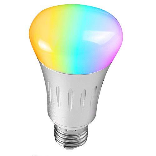 Unitify LED Smart Leuchtmittel WiFi Funktioniert mit Amazon Alexa Echo & Google Home Timer Leuchtmittel E27/E26 Hausautomation Farbwechsel, Dimmbar,Szene Entscheidungen, App Remote Kontrolle durch Smartphone