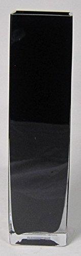 INNA Glas Set 2 x Bodenvase Leon, Quader/viereckig, schwarz, 10x10x40cm - Glasvase/Deko Vase