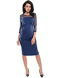 91aff36db3a Purpless Maternity Ruched Bodycon Pregnancy Dress with Sheer Mesh Panel D008