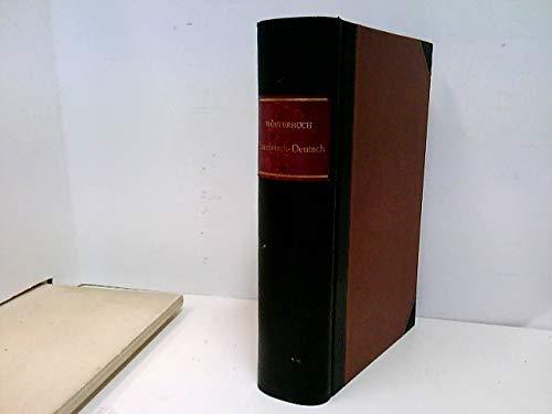 Handwörterbuch der lateinischen Sprache besonders für Gymnasien und Lyceen Lateinisch-Deutsch
