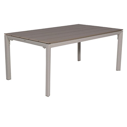 OUTLIV. Gartentisch Salsa Gartentisch 180x100cm Aluminium/Polywood Sand/Kubu Tisch Garten