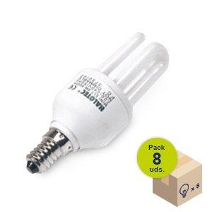 Pack von 8Leuchtmittel Energiesparlampe Mini ELT E14230V 9W 2700K