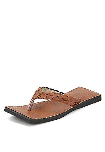 KALAKARINDIA Men Fashionable Rajasthani Handmade Brown Ethnic Silsila Leather Flats Chappal 278 - 12