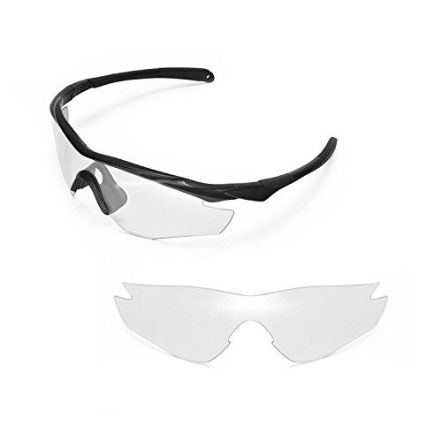 Walleva Ersatzgläser für Oakley M2 Sonnenbrille - Mehrfache Optionen (Klar)