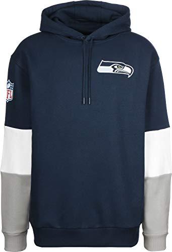 New Era Colour Block Herren Sweater Seattle Seahawks Dunkelblau, Größe:XXL