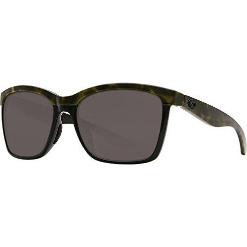 Neue Costa del Mar ANA109OGGLP Frauen Olive Schildkröte Rahmen Grau Lens Wrap Sonnenbrille