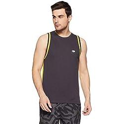 Chromozome Men's Plain Regular Fit T-Shirt Tee - CP 3_Metal-Lime_M