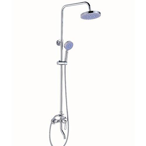 Spray Gold Trim (Mdrw-Dusche Duschkopf Fünf Duschen Wasserhahn Voll Kupfer, Dusche, Bad, Dusche, Bad, Spray Regen Anzug)