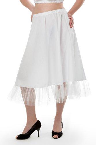 Nanenda weißer oder schwarzer Trachten Petticoat Unterrock 70 cm knielang, Tüllrock Trachten...