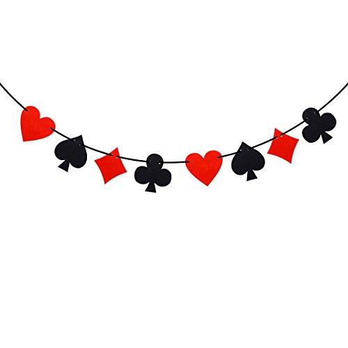 (LUOEM 3M Casino Spielkarten Banner Poker Party Hängende Dekoration)