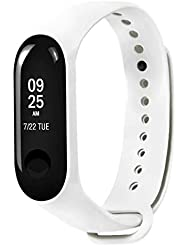 Xiaomi Mi Band 3 Fitnessarmband mit Herzfrequenzmessung, Armband: Silikon Weiß, inkl. Wechselarmband: Schwarz - Silikon