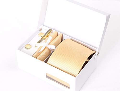 pyty123 Herren Business Kleid Krawatte Champagner Gold Nano Set Gruppe Aktivität Krawatte
