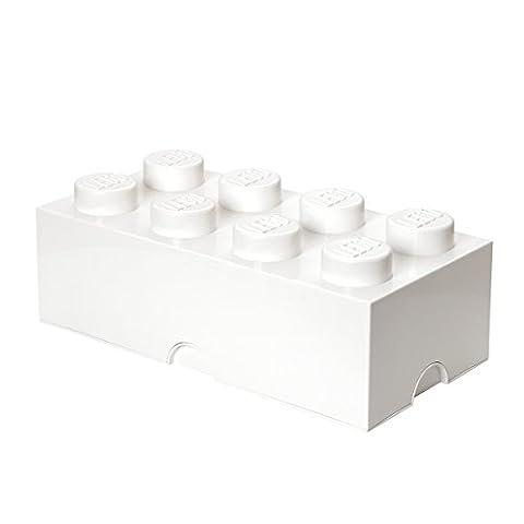 Room Copenhagen RC40041735 Lego Boîte de Rangement 8 Briques Plastique Blanc 45 x 35 x 25 cm