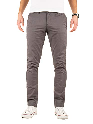 Yazubi Chino Hosen für Herren - Modell Kyle by Yzb Jeans Slim fit - Graue Chinohose Casual mit Stretch, Grau (Magnet 4R193901), W31/L34 Slim Fit Chino