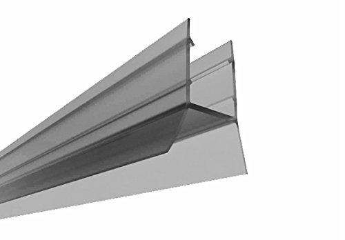 Bodendichtung für 6-8 mm Glasscheiben / (Nr. 55, 120 cm) / Dichtung Dichtleiste Duschdichtung für Duschkabine Duschwand Duschabtrennung Duschtrennwand